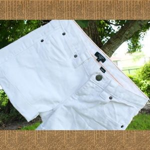 J.Crew White Denim Shorts